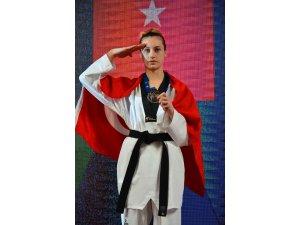 Beyşehirli milli tekvandocu Zeliha Ağrıs, Avrupa ikincisi oldu