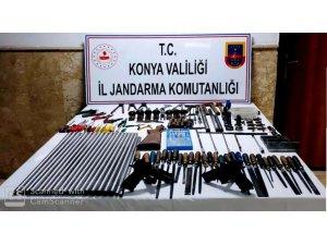 Konya'da kaçak silah imalathanesine baskın