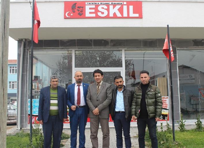 Gazetecilerden Eskil ziyareti