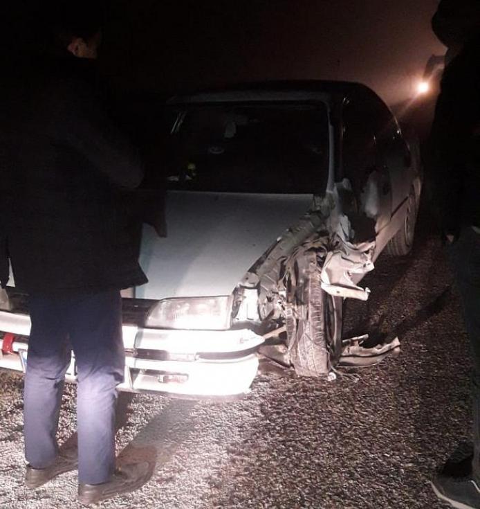 Eskil'de Yoğun Sisten Dolayı Kaza Meydana Geldi VİDEO