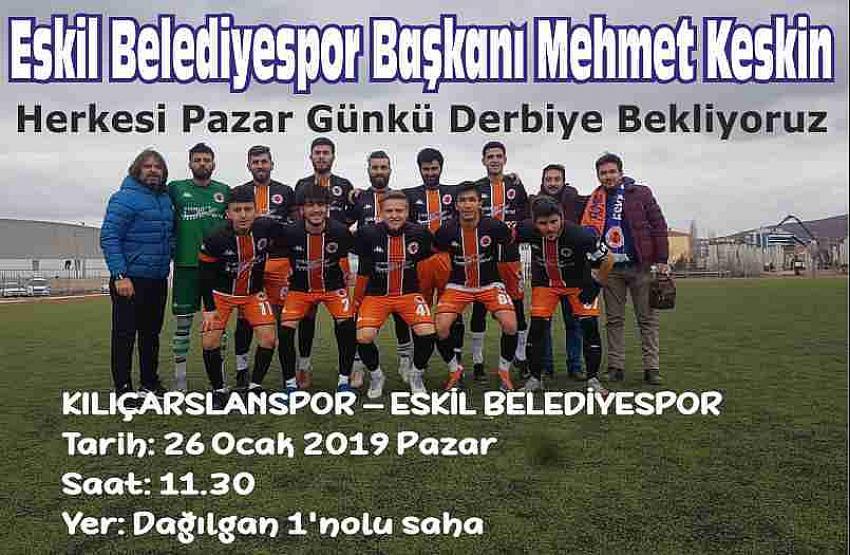 Eskil Belediyespor Yönetiminden maça davet