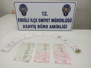 Ereğli'de kumar operasyonu