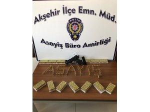 Konya'da bir evde silah ve 750 adet mermi ele geçirildi