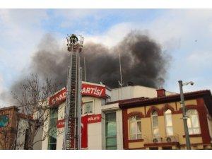 Klima patlaması sonucu çıkan yangın söndürüldü
