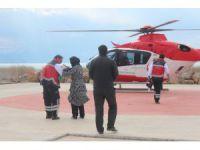 Tarım İlacından Zehirlenen Çocuğa Helikopter Ambulans