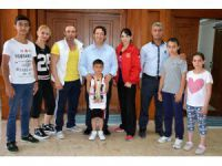 Sporculardan Başkan Yazgı'ya Ziyaret
