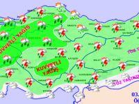 Eskil ve bölgesine kuvvetli yağış uyarısı