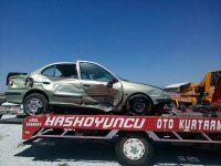 Eskil Bozcamahmut'ta kaza 4 yaralı