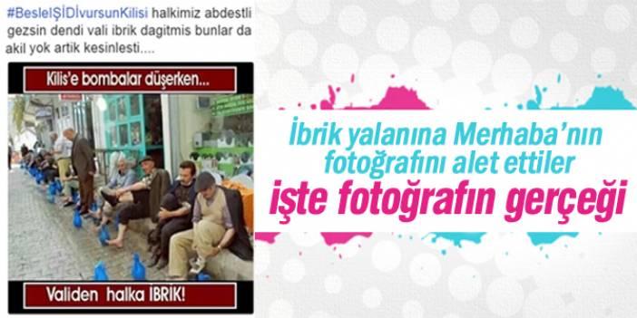 İbrik yalanına Merhaba Gazetesi'nin fotoğrafını alet ettiler