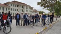 1. Tuz Gölü Bisiklet Şenliği Eskil'de Başladı