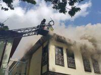 Akşehir'de Tarihi Sokakta Ev Yangını