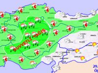 Eskil ve bölge için kuvvetli yağış uyarısı