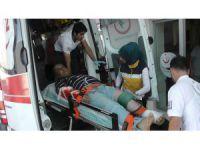 Kulu'da vinçten düşen demir bir kişiyi hastanelik etti