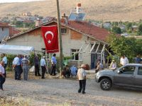 Konya'daki şehidin babaocağına ateş düştü