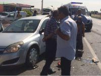 Eskilli aile Bozcamahmut'ta kaza yaptı