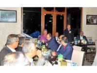 Başkan Akkaya'dan Albay Canol'a veda yemeği