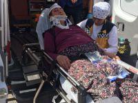 Eskil'de traktörden düşen kadın yaralandı
