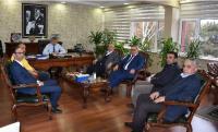 Aksaray Ticaret Borsası Yönetiminden Münir Oğuz'a hayırlı olsun ziyareti