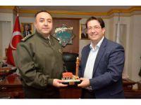 Aksaray Jandarma Komutanı Demir'den, Başkan Yazgı'ya ziyaret