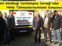 Eskil'de Türkmenlere yönelik un yardımı kampanyası