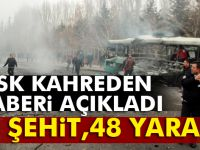 "TSK: ""13 personel şehit, 48 personel yaralı"""