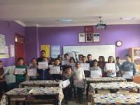 Kulu'da öğrenciler karnelerini aldı