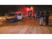 Konya'da iki araç kundaklandı