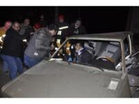 Seydişehir' de iki otomobil çarpıştı: 6 yaralı