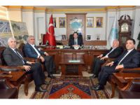MHP ve Ülkü Ocakları'ndan Başkan Yazgı'ya destek ziyareti