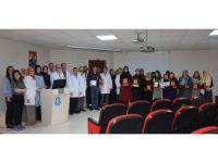 Halk Eğitim kursiyerlerinden, Selçuk Tıp'taki miniklere hediye