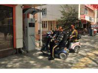 Akşehir'de, engelli araçları için şarj istasyonu