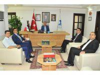 Ağır Ceza Mahkemesi Başkanı Özer ve hakimlerden Başkan Akkaya'ya veda ziyareti