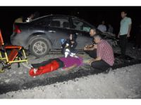 Konya'da otomobil kum yığınına çarptı: 6 yaralı