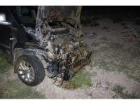 Sürüye çarpan hafif ticari araç 40 koyunu telef etti