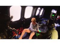 Kanyonda ayak bileği kırılan dağcı askeri helikopterle kurtarıldı