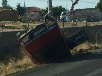 Ortaköy'de trafik kazası 2 yaralı