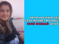 Hacı Huri Bozdağ vefat etti