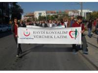 """Konya'da """"Dünya Yürüyüş Günü"""" gerçekleşti"""