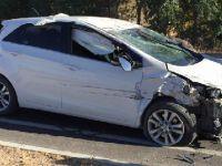 Eskilli vatandaş Kızören'de kaza yaptı