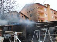 İşyeri ile birlikte evi de yandı