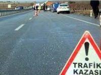 Aksaray'daki kazada genç kadın ağır yaralandı
