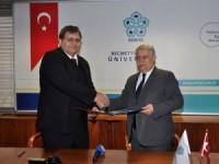 NEÜ ile Kıbrıs Sosyal Bilimler Üniversitesi arasında işbirliği