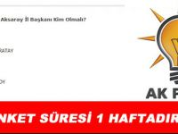 AksarayMedya.com soruyor? Ak Parti İl Başkanı Sizce kim olmalı!