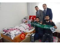 Atiker Konyaspor'dan Afrin Gazisi Ahmet Çetin'e ziyaret
