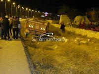Sultanhanı'nda römork devrildi bir kişi öldü