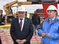 Eskil'de doğalgaz için ilk kazma törenle vuruldu