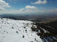 Konya'da bahar Derbent'te kış yaşanıyor
