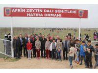 Cihanbeyli'de şehitler için 500 fidan toprakla buluşturuldu