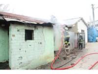 Konya'da müstakil evde yangın paniği