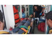Aksaray'da inşaatın 3. katından düşen işçi yaralandı
